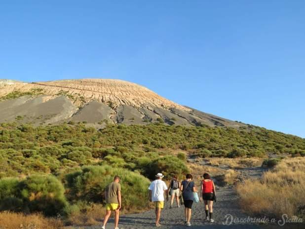 escalada de um vulcão