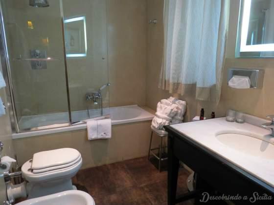 Banheiro Quarto Hotel Villa Carlotta Taormina