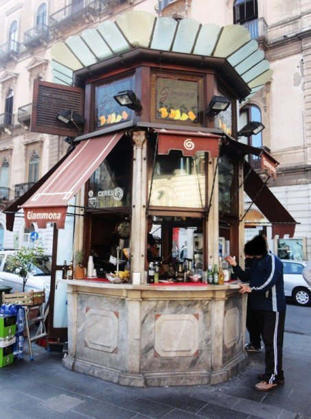 Quiosque de bebidas em Catania