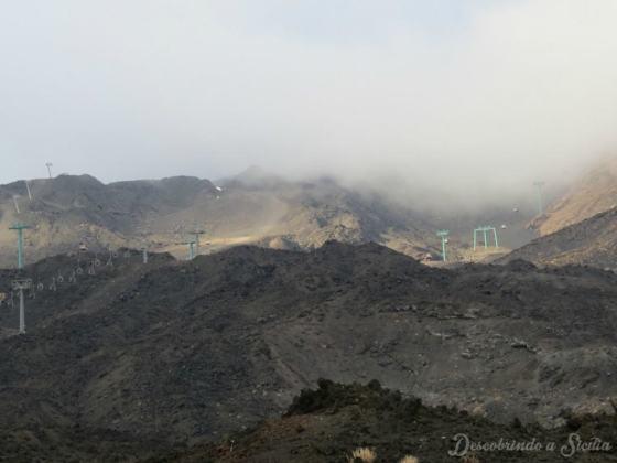 Excursão ao Etna: O teleférico