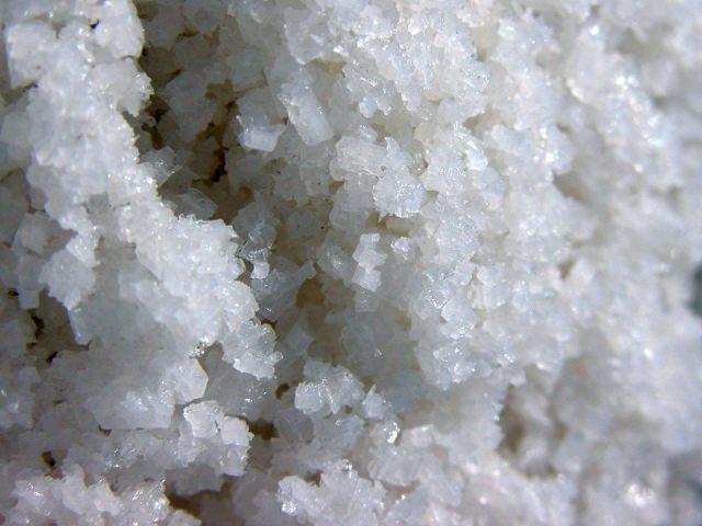 Cristais de sal