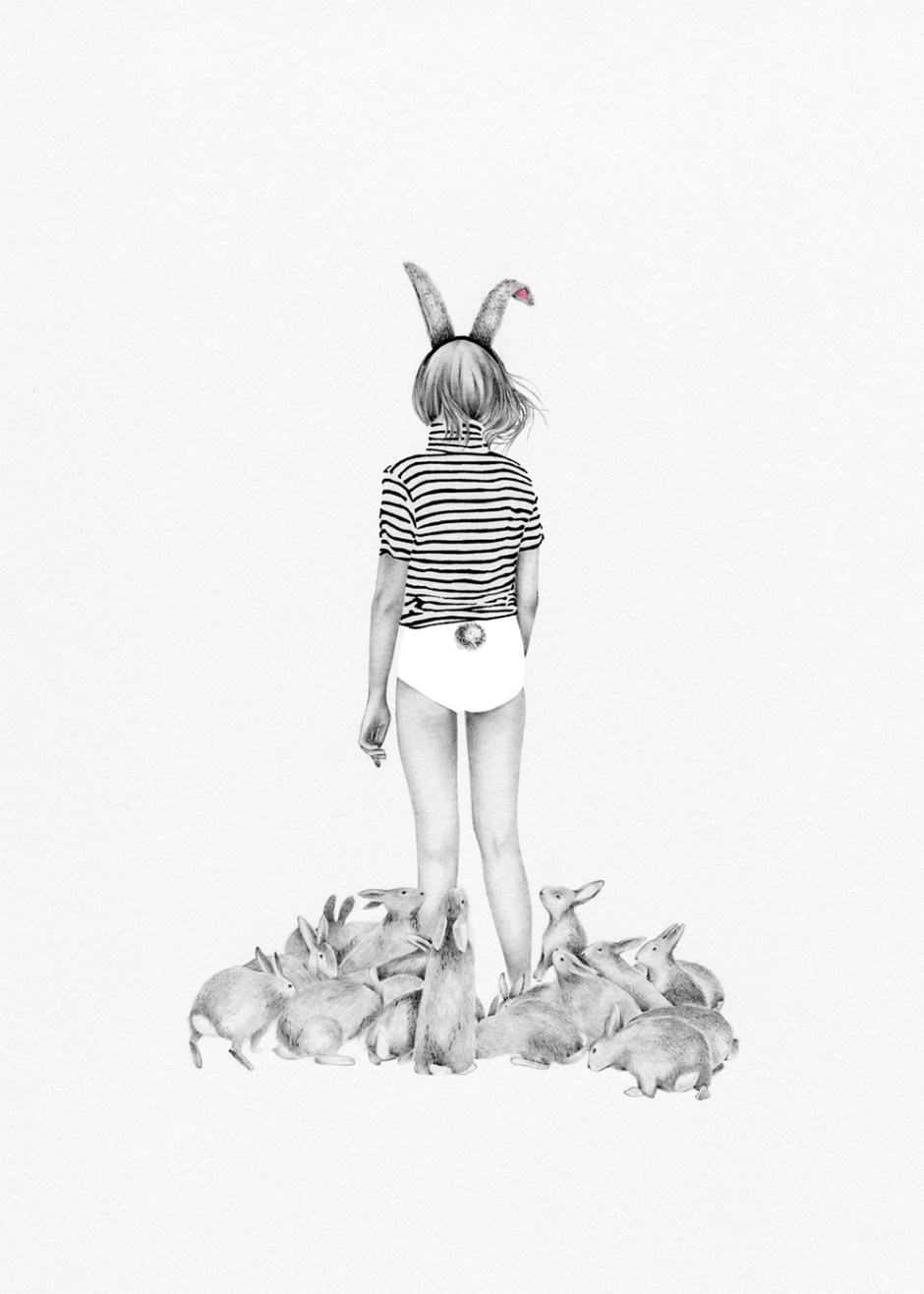 Caroline Morin - rabbit stripes