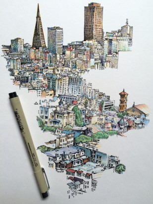 Noel Badges Pugh - city in progress