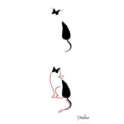Tangosleepless - rat cat butterfly