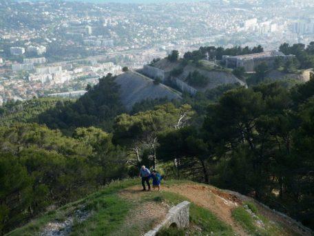 Monte Faron em Toulon, de onde sai o teleférico.