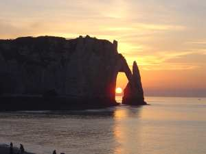 sunset on etretat 1259009 - sunset-on-etretat-1259009