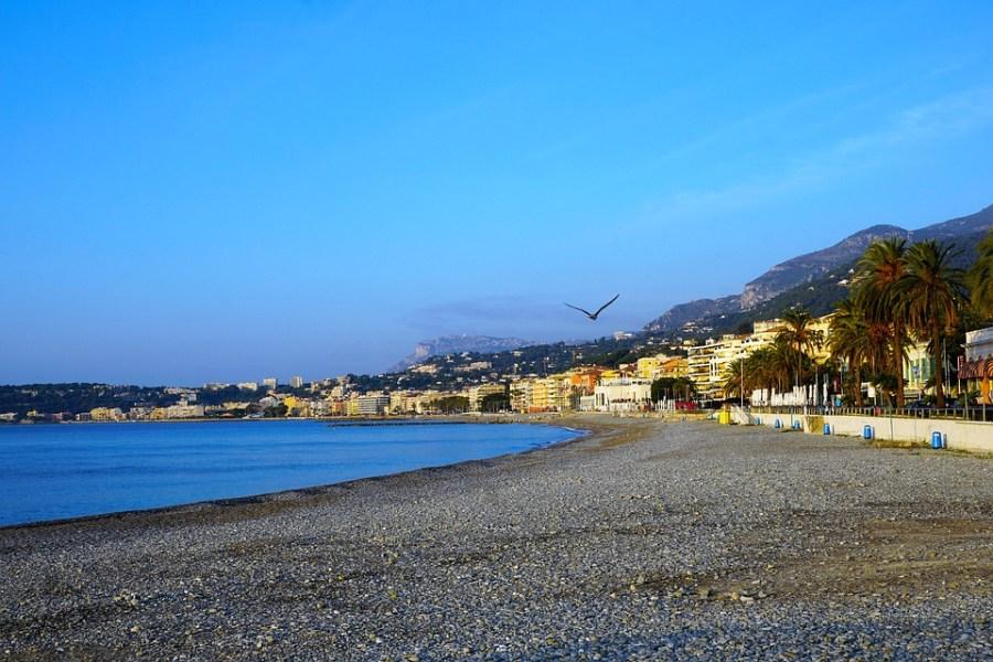 As praias de Menton estão listadas entre as mais belas praias da França