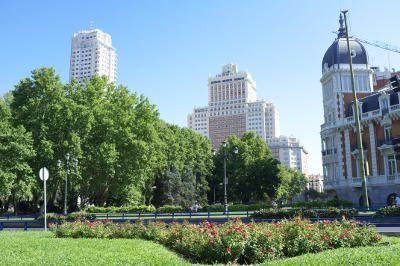 Vista do Edificio Espanha em Madrí