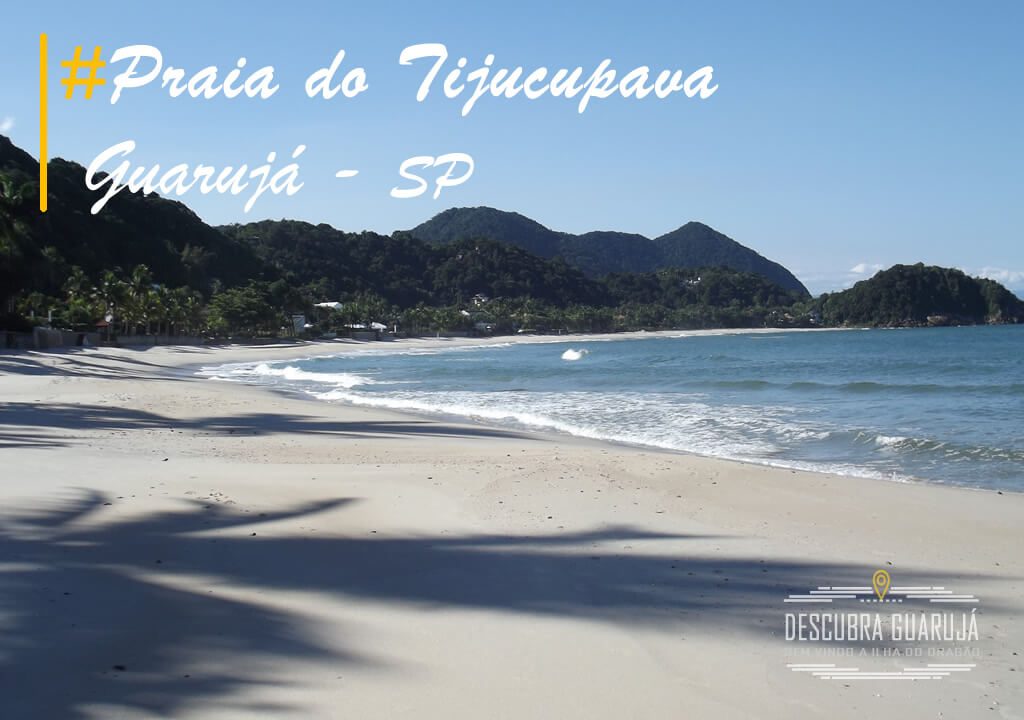 Capa Praia do Tijucupava em Guarujá SP