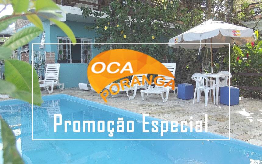Banner Promoção Pousada Oca Poranga Guarujá