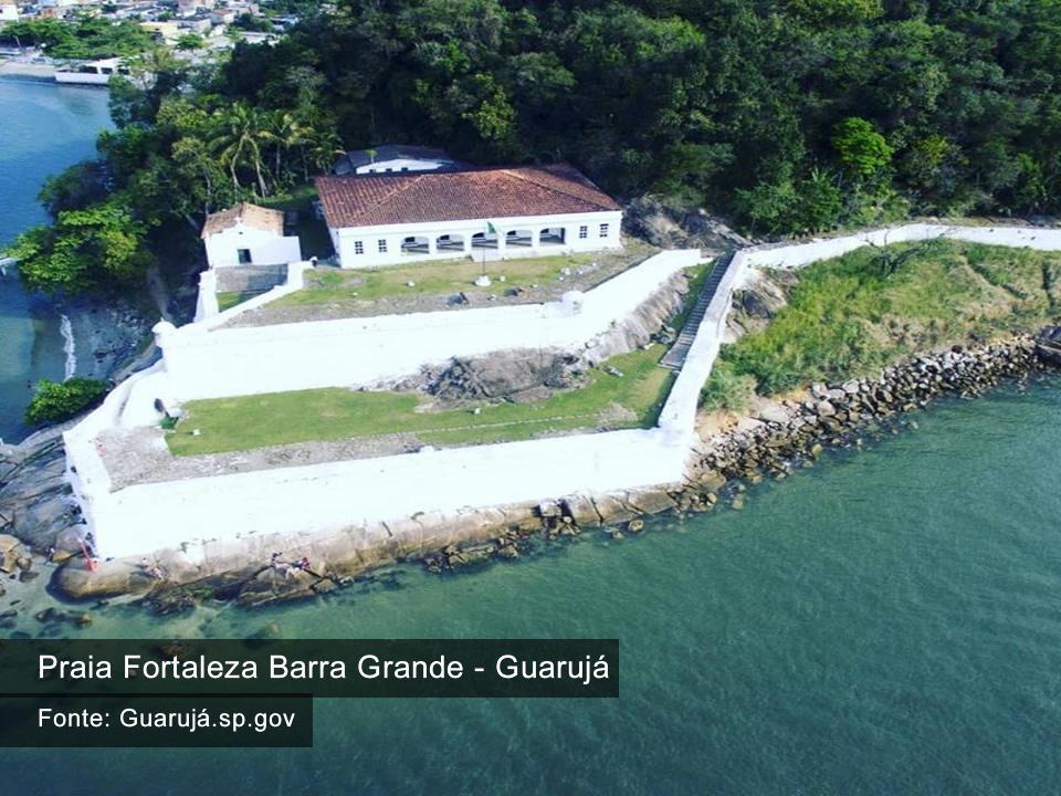 Praia Fortaleza da Barra Grande - Guarujá SP - Fonte Guaruja.sp.gv