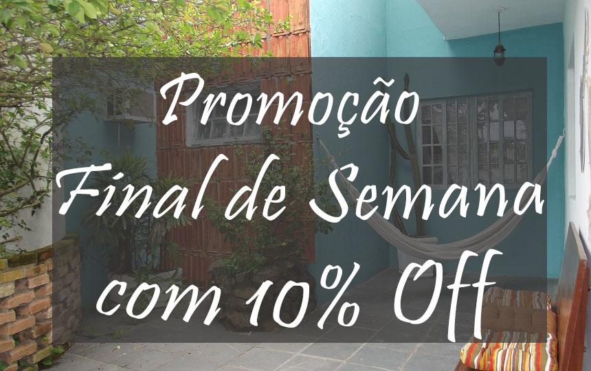 Promoção Final de Semana 10 off - Pousada Oca Poranga Enseada Guarujá