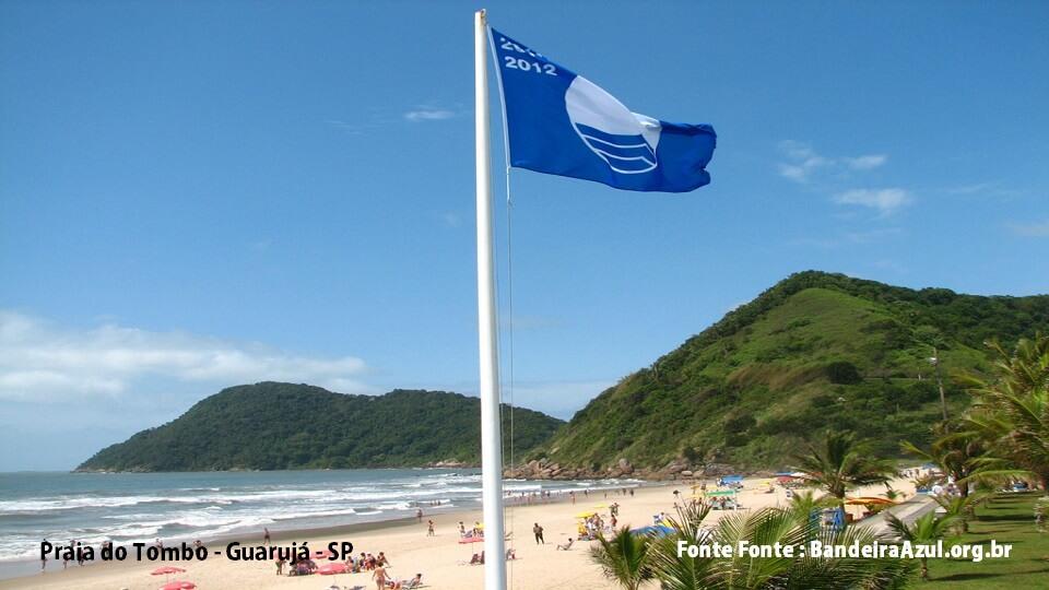 Praia do Tombo em Guarujá SP - Foto Bandeira Azul-org