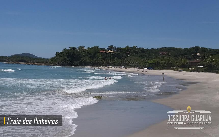 A Praia dos Pinheiros no Guarujá
