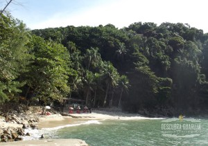 Vista da bela Praia do Eden no Guaruja