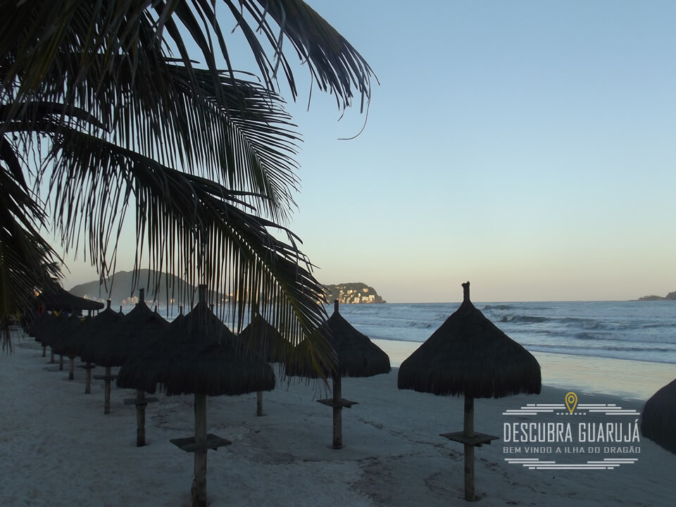 guarda sol Palha Praia da Enseada Guarujá