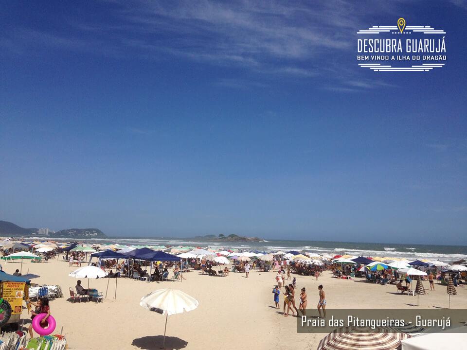 A Praia de Pitangueiras em Guaruja SP
