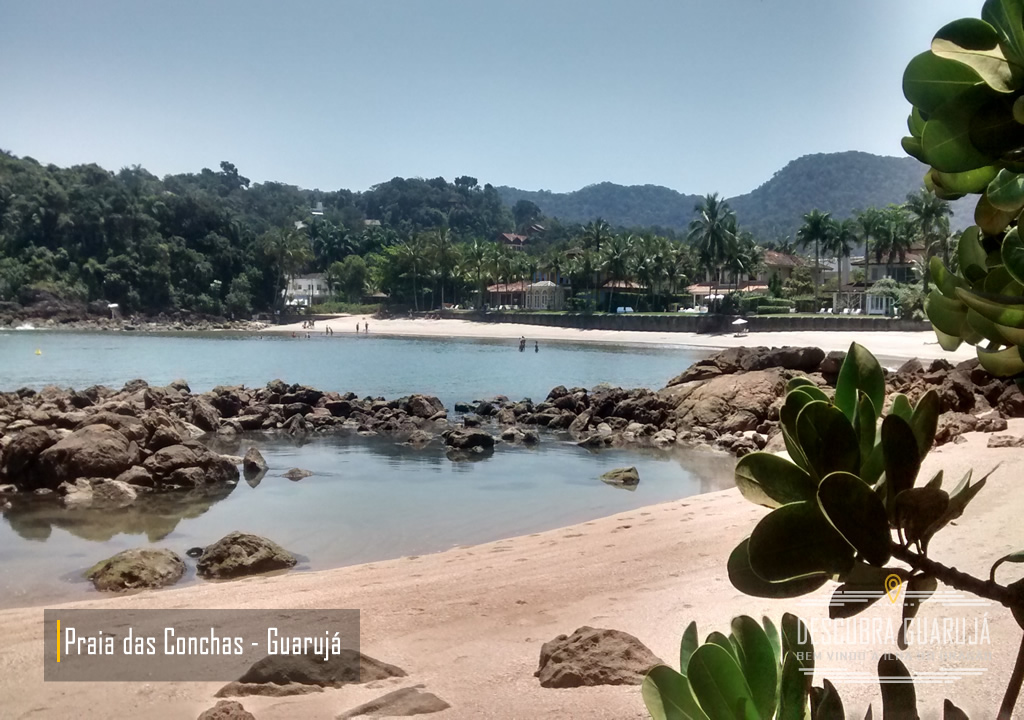 Praia de conchas no Guarujá