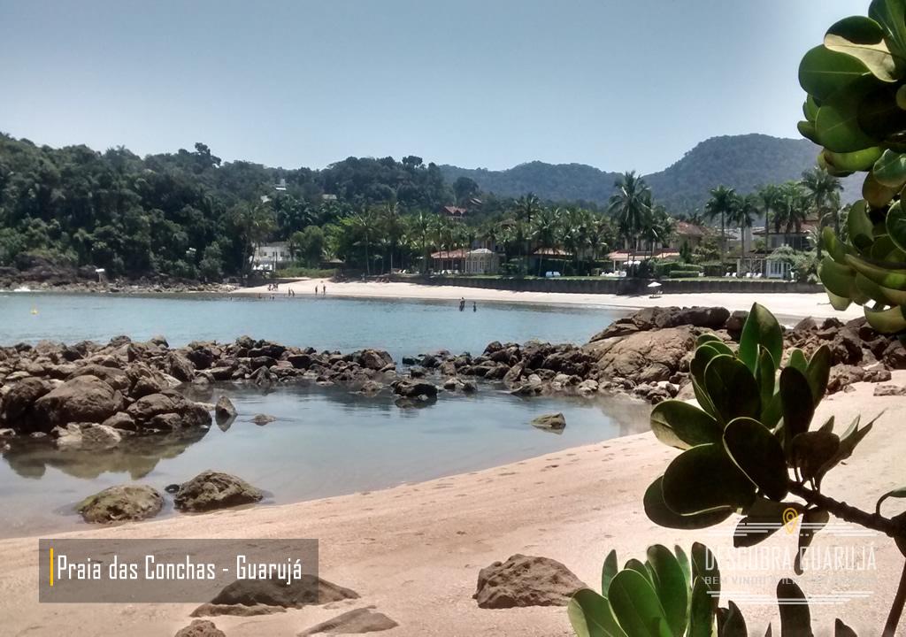 Praia de conchas no Guarujá