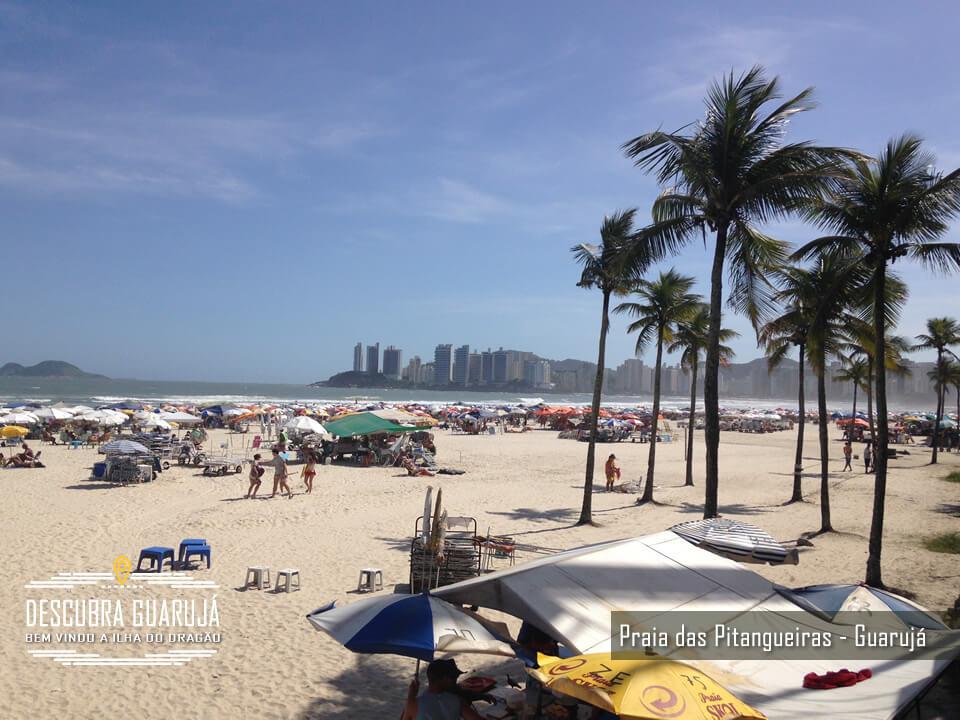 Praia de Pitangueiras no Guarujá SP