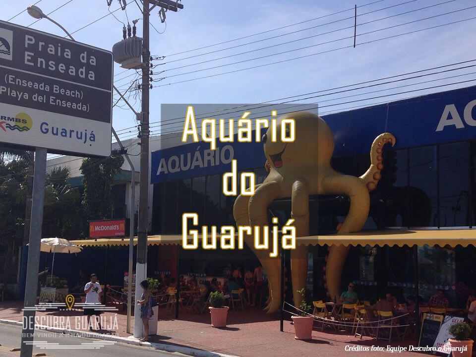 Turismo - Acqua Mundo - Aquário do Guarujá SP