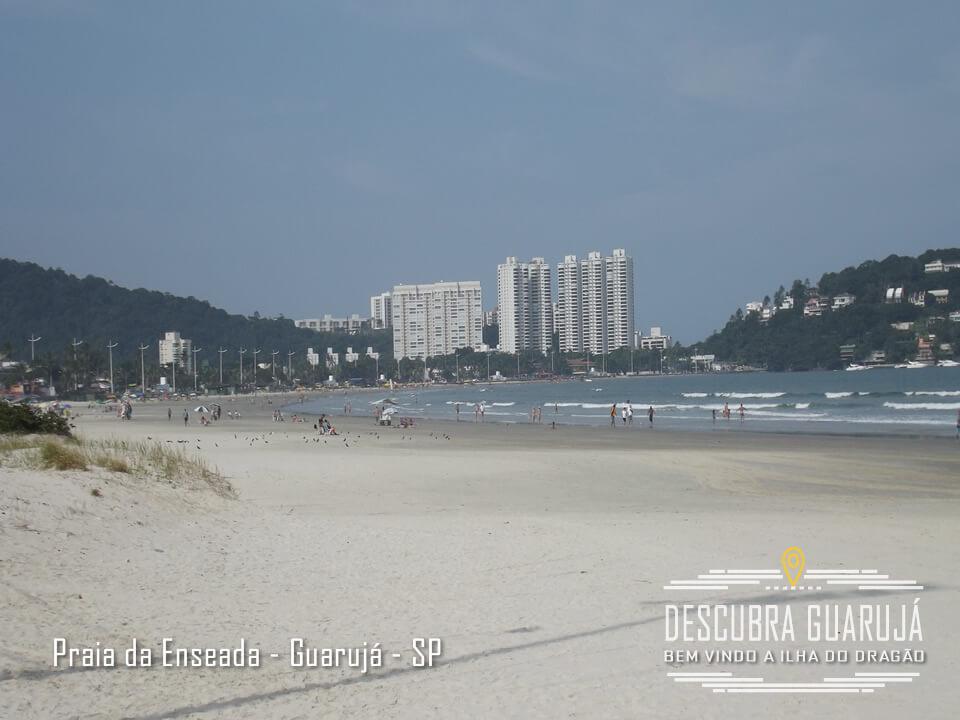 Vista da Praia da enseada Lado Tortugas - Guarujá - Litoral SP