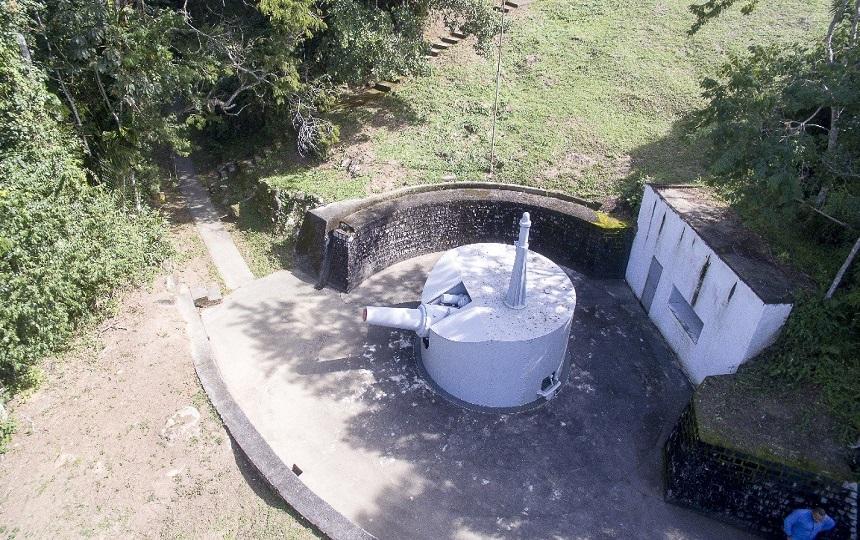 Canhões no Forte dos Andradas no Guarujá