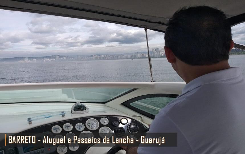 Barreto Aluguel e Passeios de Lancha nas Praias do Guarujá