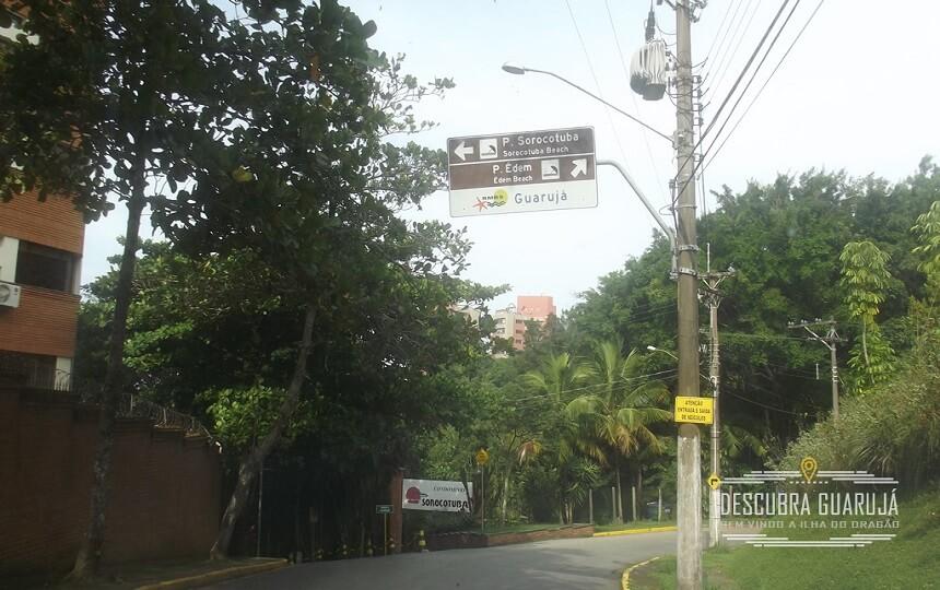 Chegando na Portaria da Praia do Sorocotuba em Guarujá