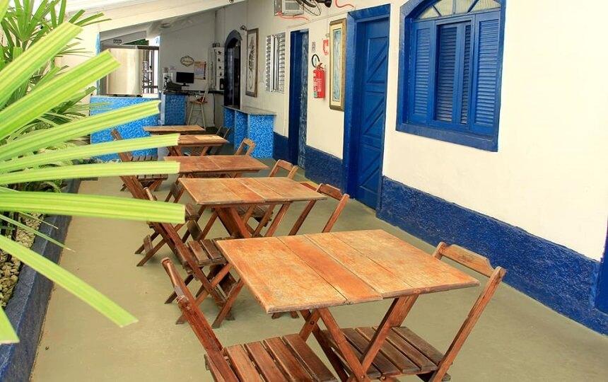 Fotos area cafe Oca poranga Pousada em Guarujá