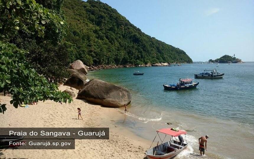 Praia do Sangava - Guarujá SP - Fonte Site - Guaruja.sp.gv