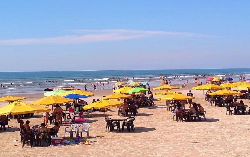 Praia de Mongagua Litoral sul Paulista