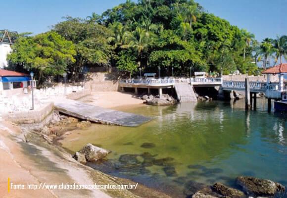 Pier da Ilha das Palmas em Santos-Guarujá
