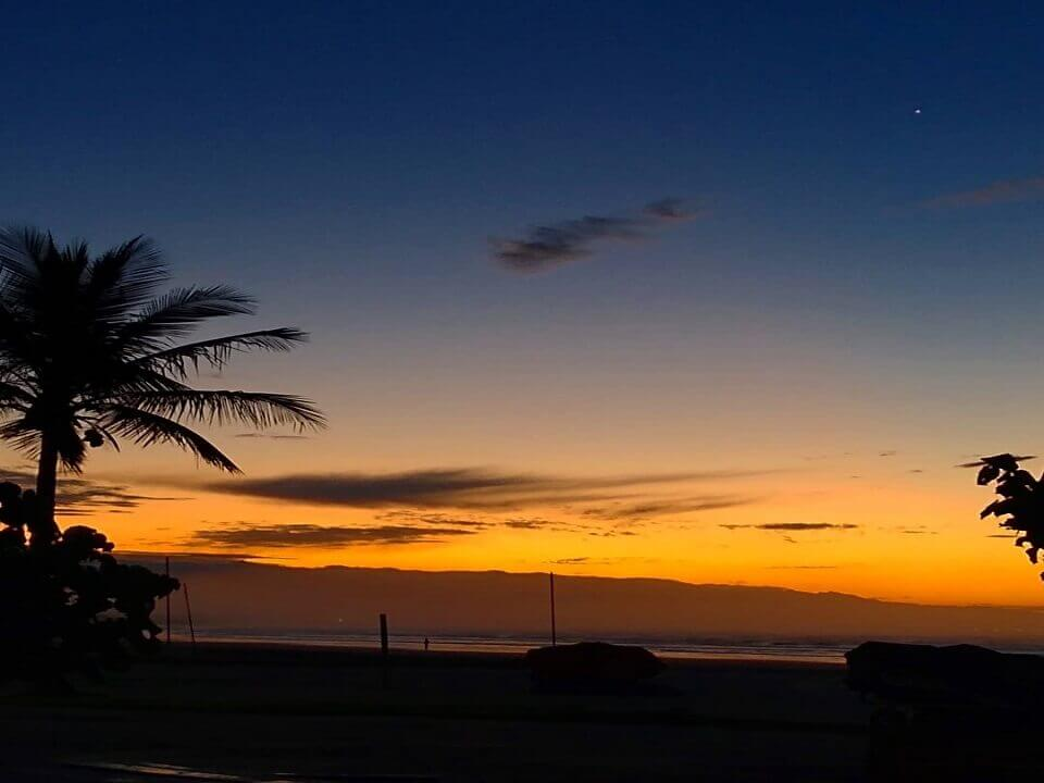 Por do Sol na Praia da Enseada em Bertioga