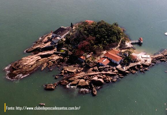 Vista aerea da Ilha das Palmas Santos