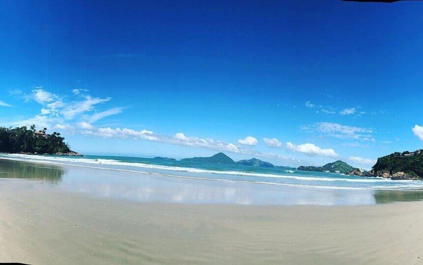 A praia do Tenório em Ubatuba SP