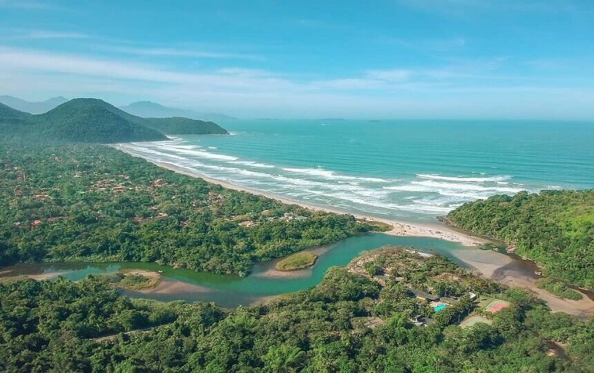 Praia de Itamambuca Ubatuba Litoral Norte