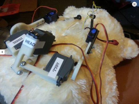 teddy2 - Peluche robot