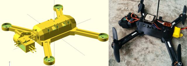 """drone3 - Un drone imprimido en 3D que sigue al """"lider"""""""