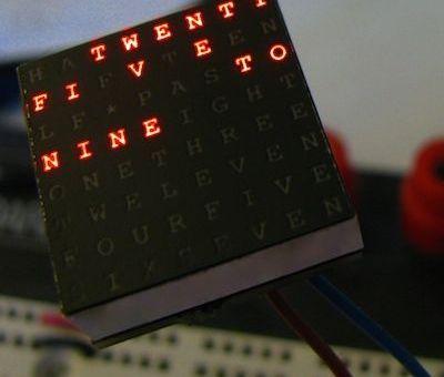 relojadruino - Un reloj de palabras con Arduino