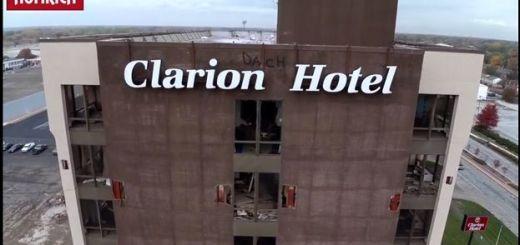 clarion drone - Vídeo del día: demolición de edificio desde un dron