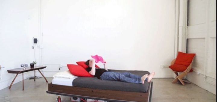 cama arduino1 - Una cama robot que se mueve autonomamente