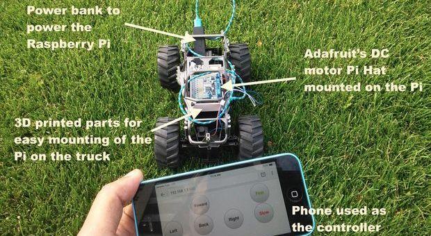 raspberrypitoy - Controla un coche RC con una Raspberry Pi desde el smartphone