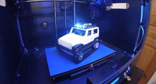 jeep arduino2 - Arduino controla este jeep de control remoto impreso en 3D