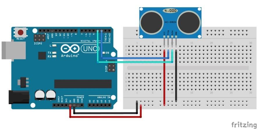 como conectar el sensor ultrasonico a arduino - Tutorial Arduino: Sensor ultrasonidos HC-SR04