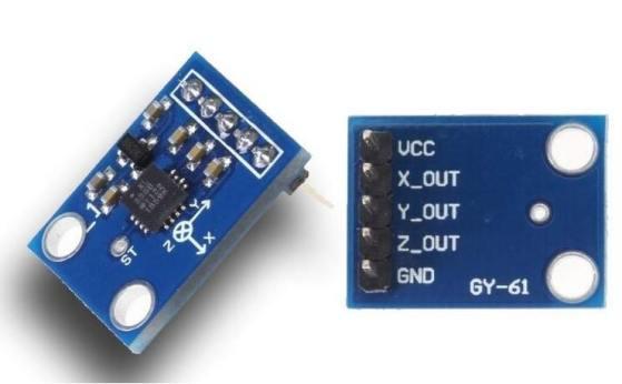 Acelerómetro ADXL335 con Arduino Uno - Acelerómetro ADXL335 e Interfaz con Arduino Uno