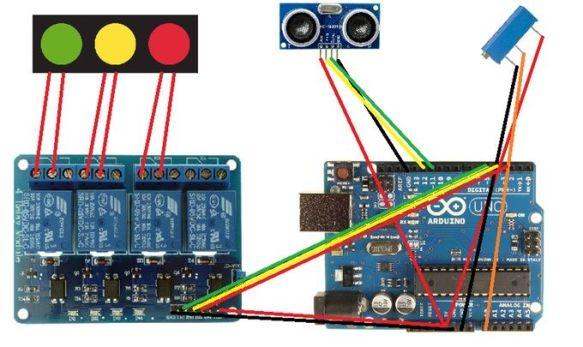 semaforoarduino2 Construye un original sistema de aparcar el coche con Arduino