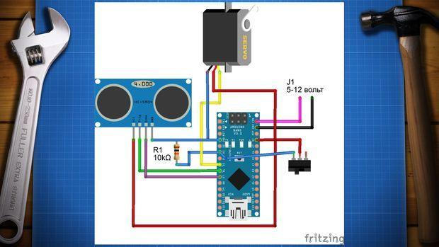 papelera-robot1 Construye una papelera robotizada con Arduino