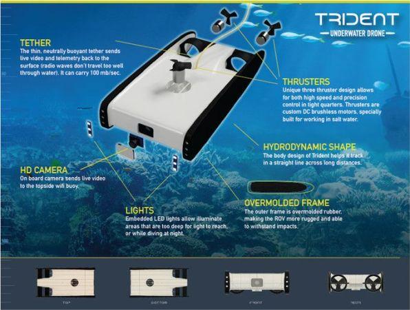 trident1-596x450 OpenRov Trident, un drone submarino con Raspberry Pi 3