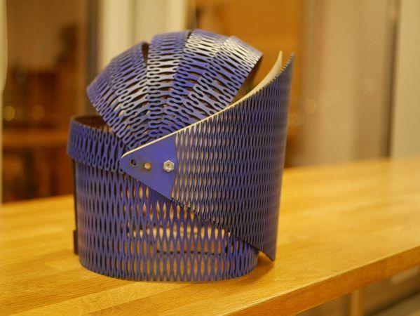 ampoule2-599x450 Ampoule, un casco de madera que reacciona al sonido